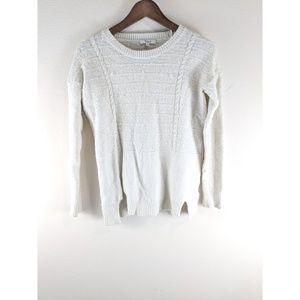 Madewell Ivory White Knit Crewneck Sweater Small